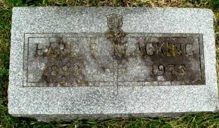 KLACKING, EARL - Calhoun County, Michigan | EARL KLACKING - Michigan Gravestone Photos