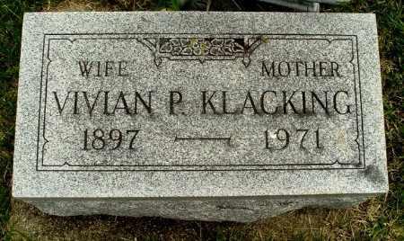 KLACKING, VIVIAN - Calhoun County, Michigan   VIVIAN KLACKING - Michigan Gravestone Photos