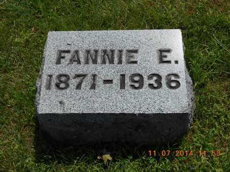 KNICKERBOCKER, FANNIE E. - Calhoun County, Michigan   FANNIE E. KNICKERBOCKER - Michigan Gravestone Photos