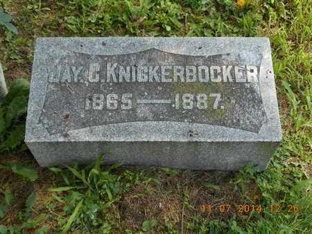 KNICKERBOCKER, JAY C. - Calhoun County, Michigan | JAY C. KNICKERBOCKER - Michigan Gravestone Photos