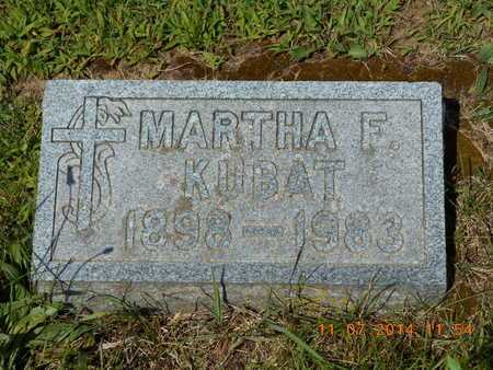 KUBAT, MARTHA F. - Calhoun County, Michigan | MARTHA F. KUBAT - Michigan Gravestone Photos