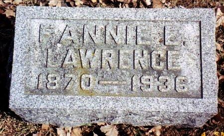 LAWRENCE, FANNIE - Calhoun County, Michigan   FANNIE LAWRENCE - Michigan Gravestone Photos