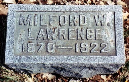 LAWRENCE, MILFORD - Calhoun County, Michigan | MILFORD LAWRENCE - Michigan Gravestone Photos