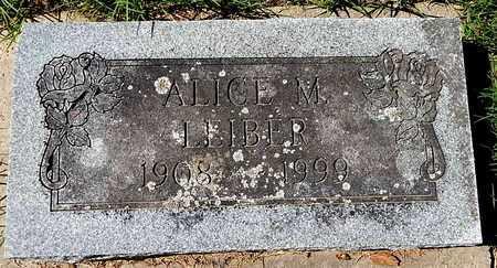 LEIBER, ALICE M - Calhoun County, Michigan | ALICE M LEIBER - Michigan Gravestone Photos