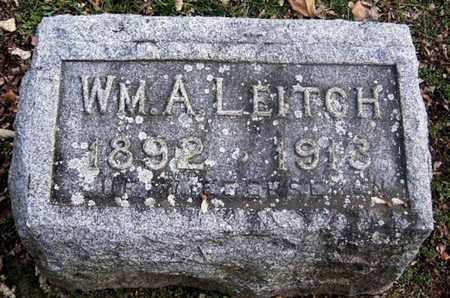 LEITCH, WILLIAM A - Calhoun County, Michigan | WILLIAM A LEITCH - Michigan Gravestone Photos