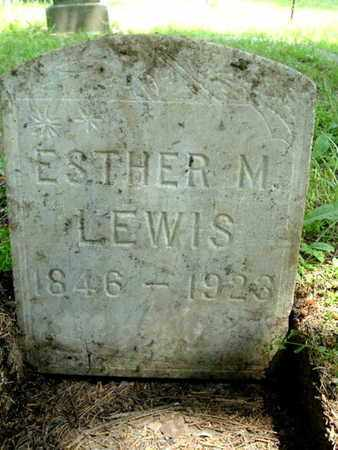 LEWIS, ESTHER M - Calhoun County, Michigan   ESTHER M LEWIS - Michigan Gravestone Photos