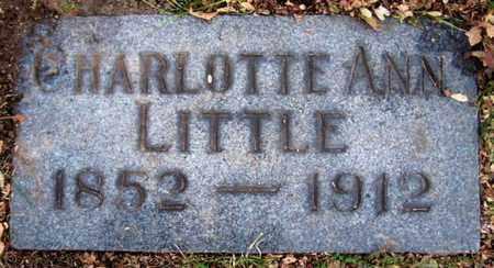 LITTLE, CHARLOTTE ANN - Calhoun County, Michigan   CHARLOTTE ANN LITTLE - Michigan Gravestone Photos