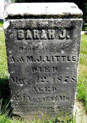 LITTLE, SARAH J - Calhoun County, Michigan | SARAH J LITTLE - Michigan Gravestone Photos