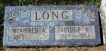 LONG, ATHUR W - Calhoun County, Michigan | ATHUR W LONG - Michigan Gravestone Photos