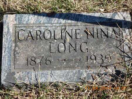 LONG, CAROLINE NINA - Calhoun County, Michigan | CAROLINE NINA LONG - Michigan Gravestone Photos