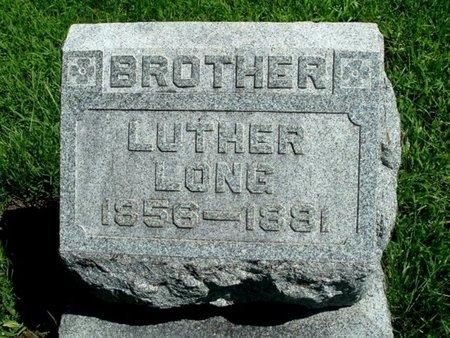 LONG, LUTHER - Calhoun County, Michigan | LUTHER LONG - Michigan Gravestone Photos