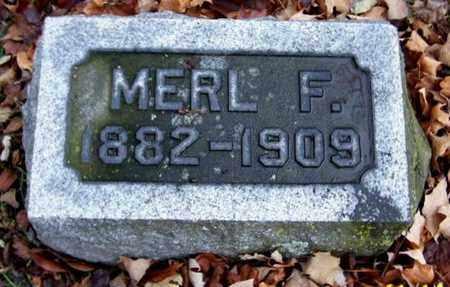 LONG, MERL F - Calhoun County, Michigan | MERL F LONG - Michigan Gravestone Photos