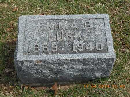 LUSK, EMMA B. - Calhoun County, Michigan | EMMA B. LUSK - Michigan Gravestone Photos