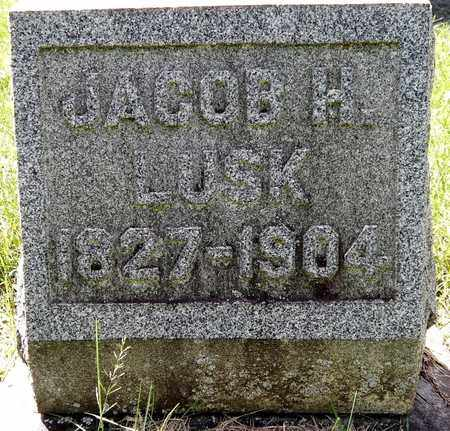 LUSK, JACOB H - Calhoun County, Michigan | JACOB H LUSK - Michigan Gravestone Photos