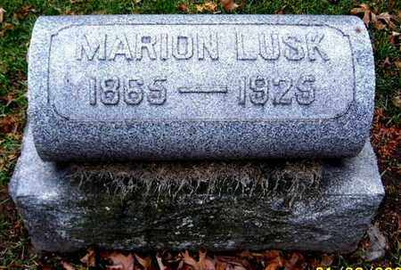 LUSK, MARION - Calhoun County, Michigan | MARION LUSK - Michigan Gravestone Photos
