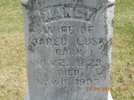 LUSK, NANCY - Calhoun County, Michigan   NANCY LUSK - Michigan Gravestone Photos