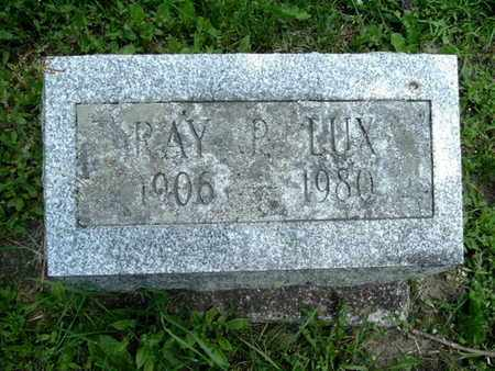 LUX, RAY - Calhoun County, Michigan | RAY LUX - Michigan Gravestone Photos
