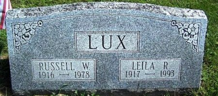 LUX, RUSSELL W - Calhoun County, Michigan | RUSSELL W LUX - Michigan Gravestone Photos