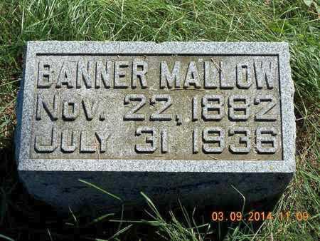 MALLOW, BANNER - Calhoun County, Michigan   BANNER MALLOW - Michigan Gravestone Photos