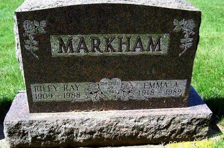 MARKHAM, RILEY R - Calhoun County, Michigan | RILEY R MARKHAM - Michigan Gravestone Photos