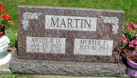 MARTIN, ARTHUR D - Calhoun County, Michigan   ARTHUR D MARTIN - Michigan Gravestone Photos
