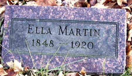 MARTIN, ELLA - Calhoun County, Michigan | ELLA MARTIN - Michigan Gravestone Photos