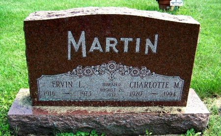 MARTIN, CHARLOTTE - Calhoun County, Michigan | CHARLOTTE MARTIN - Michigan Gravestone Photos