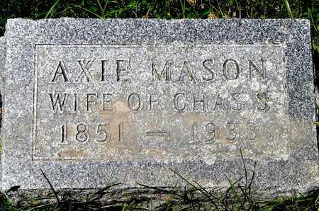 MASON, AXIE - Calhoun County, Michigan | AXIE MASON - Michigan Gravestone Photos