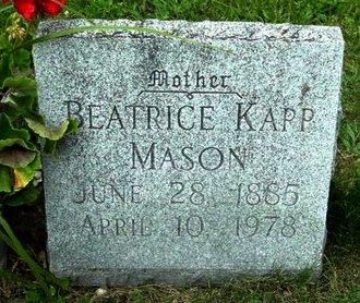 MASON, BEATRICE - Calhoun County, Michigan | BEATRICE MASON - Michigan Gravestone Photos