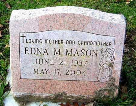 MASON, EDNA M - Calhoun County, Michigan   EDNA M MASON - Michigan Gravestone Photos