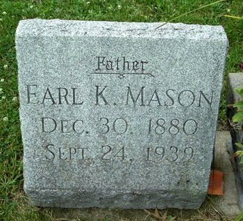 MASON, EARL K - Calhoun County, Michigan | EARL K MASON - Michigan Gravestone Photos