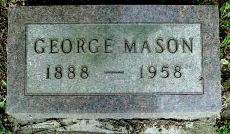MASON, GEORGE - Calhoun County, Michigan   GEORGE MASON - Michigan Gravestone Photos