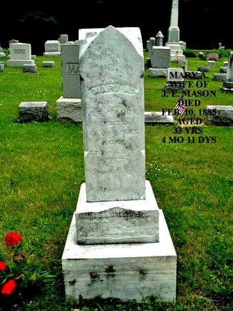 MASON, MARY A - Calhoun County, Michigan | MARY A MASON - Michigan Gravestone Photos