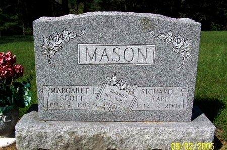 MASON, RICHARD K - Calhoun County, Michigan | RICHARD K MASON - Michigan Gravestone Photos