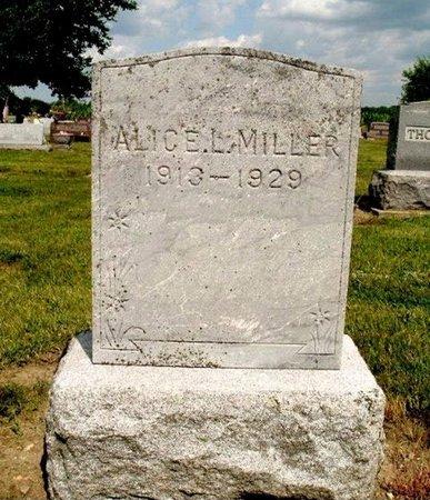 MILLER, ALICE L. - Calhoun County, Michigan   ALICE L. MILLER - Michigan Gravestone Photos