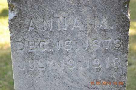 MILLER, ANNA M. - Calhoun County, Michigan | ANNA M. MILLER - Michigan Gravestone Photos