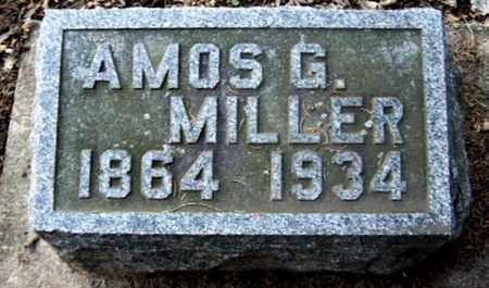 MILLER, AMOS G - Calhoun County, Michigan   AMOS G MILLER - Michigan Gravestone Photos