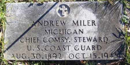 MILLER, ANDREW - Calhoun County, Michigan   ANDREW MILLER - Michigan Gravestone Photos