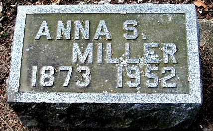 MILLER, ANNA S - Calhoun County, Michigan   ANNA S MILLER - Michigan Gravestone Photos