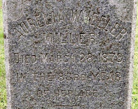 MILLER, AURELIA - Calhoun County, Michigan   AURELIA MILLER - Michigan Gravestone Photos