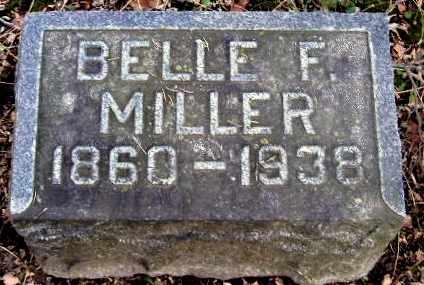 MILLER, BELLE F - Calhoun County, Michigan   BELLE F MILLER - Michigan Gravestone Photos