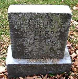 MILLER, BERTRUM F - Calhoun County, Michigan   BERTRUM F MILLER - Michigan Gravestone Photos