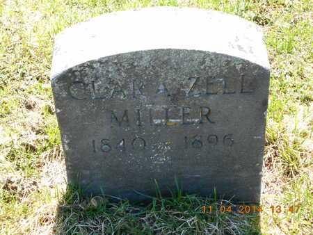 MILLER, CLARA ZELL - Calhoun County, Michigan | CLARA ZELL MILLER - Michigan Gravestone Photos
