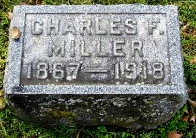 MILLER, CHARLES F - Calhoun County, Michigan   CHARLES F MILLER - Michigan Gravestone Photos