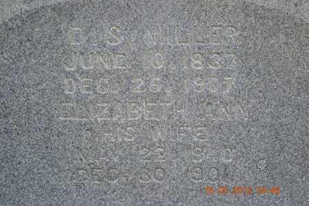 MILLER, D.S./ELIZABETH ANN - Calhoun County, Michigan | D.S./ELIZABETH ANN MILLER - Michigan Gravestone Photos