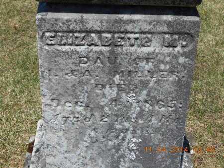 MILLER, ELIZABETH M. - Calhoun County, Michigan   ELIZABETH M. MILLER - Michigan Gravestone Photos