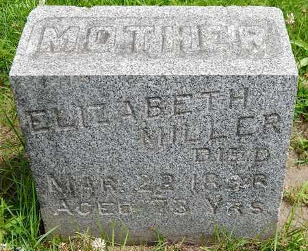 MILLER, ELIZABETH - Calhoun County, Michigan | ELIZABETH MILLER - Michigan Gravestone Photos