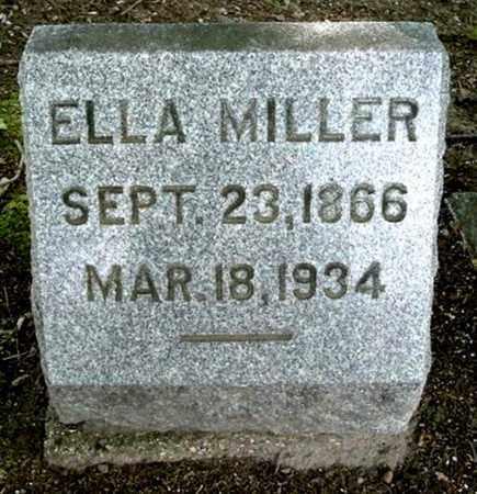 MILLER, ELLA - Calhoun County, Michigan | ELLA MILLER - Michigan Gravestone Photos