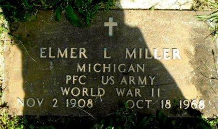 MILLER, ELMER L - Calhoun County, Michigan   ELMER L MILLER - Michigan Gravestone Photos