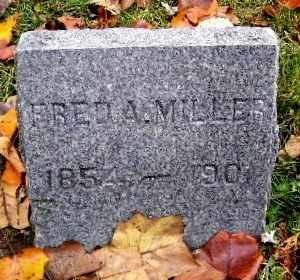 MILLER, FRED A - Calhoun County, Michigan   FRED A MILLER - Michigan Gravestone Photos